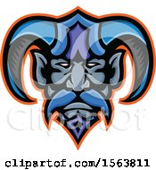 Clipart Of A Hades Greek God Mascot Face Royalty Free Vector Illustration