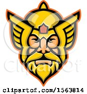Clipart Of A Mascot Of Thor Royalty Free Vector Illustration