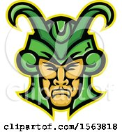 Clipart Of A Loki God Mascot Face Royalty Free Vector Illustration by patrimonio