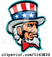 Clipart Of A Mascot Of Uncle Sam Royalty Free Vector Illustration