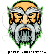 Clipart Of A Cronus Mascot Face Royalty Free Vector Illustration