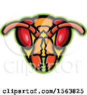 Clipart Of A Hornet Mascot Head Royalty Free Vector Illustration by patrimonio