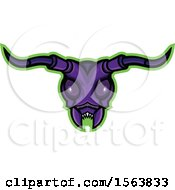 Clipart Of A Long Horned Beetle Mascot Head Royalty Free Vector Illustration