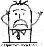 Poster, Art Print Of Stressed Stick Man