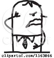 Poster, Art Print Of Grieving Stick Man