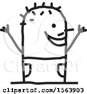 Poster, Art Print Of Cheering Stick Man