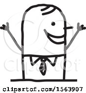 Poster, Art Print Of Cheering Or Welcoming Stick Man