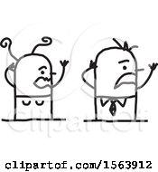 Stressed Stick Couple