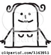 Poster, Art Print Of Happy Stick Woman