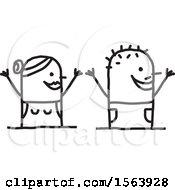 Cheering Stick Couple