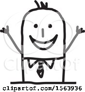 Poster, Art Print Of Cheering Excited Stick Man