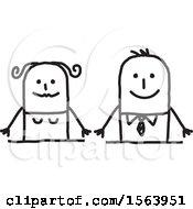 Poster, Art Print Of Happy Stick Couple
