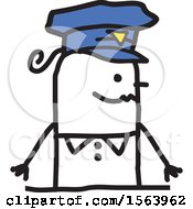 Poster, Art Print Of Happy Stick Police Woman