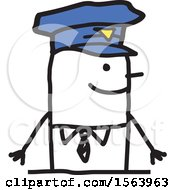 Poster, Art Print Of Happy Stick Police Man