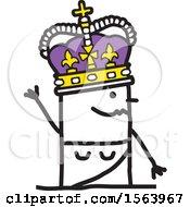 Stick Man King Waving