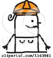 Poster, Art Print Of Happy Stick Engineer Woman