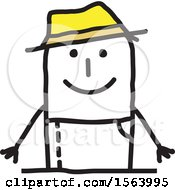 Poster, Art Print Of Happy Stick Gardener Man