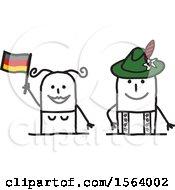Happy Stick German Couple