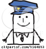 Poster, Art Print Of Happy Stick Police Man