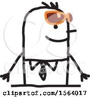 Stick Man Wearing Sunglasses