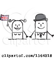 Poster, Art Print Of Happy Stick British Couple