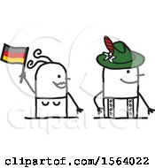 Poster, Art Print Of Happy Stick German Couple