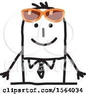 Poster, Art Print Of Stick Man Wearing Sunglasses