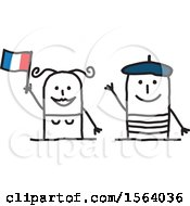 Poster, Art Print Of Happy Stick French Couple
