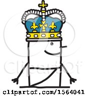 Poster, Art Print Of Stick Man King