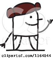 Poster, Art Print Of Happy Stick Spanish Man
