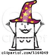 Happy Stick Witch