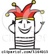 Poster, Art Print Of Happy Stick Jester Man