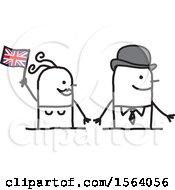 Happy Stick British Couple