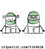 Poster, Art Print Of Happy Stick Surgeon Couple