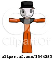Orange Plague Doctor Man T Pose Arms Up Standing