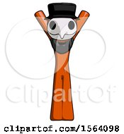 Orange Plague Doctor Man Hands Up