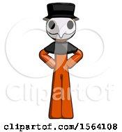 Orange Plague Doctor Man Hands On Hips