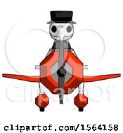 Orange Plague Doctor Man In Geebee Stunt Plane Front View