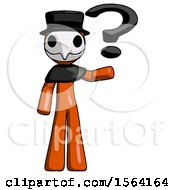 Orange Plague Doctor Man Holding Question Mark To Right