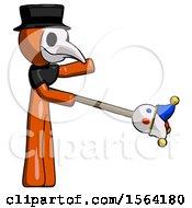 Orange Plague Doctor Man Holding Jesterstaff I Dub Thee Foolish Concept