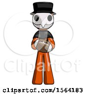 Orange Plague Doctor Man Giving Football To You