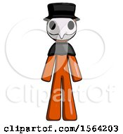 Orange Plague Doctor Man Standing Facing Forward