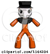 Orange Plague Doctor Male Sumo Wrestling Power Pose