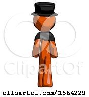 Orange Plague Doctor Man Walking Away Back View