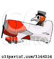 Orange Plague Doctor Man In Geebee Stunt Aircraft Side View
