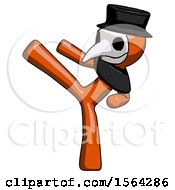 Orange Plague Doctor Man Ninja Kick Left
