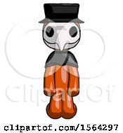 Orange Plague Doctor Man Kneeling Front Pose