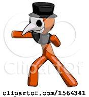 Orange Plague Doctor Man Martial Arts Punch Left