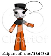 Orange Plague Doctor Man With Word Bubble Talking Chat Icon