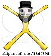 Yellow Plague Doctor Man With Arms And Legs Stretched Out